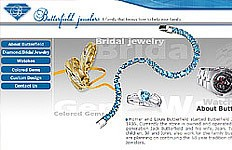 An informational website design for Butterfield Jewelers. The goal was to create a design to showcase their jewelry products. Website Home Page Diamond Jewelary Section Watches Section Coloured Games Section...