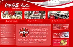 To complement Coke's international website, it is indeed necessary to have a local website that translates Coke's philosophy and transforms it in local sensibilities. This is Coca-Cola's corporate website for...