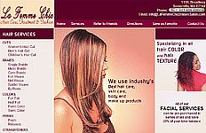 An informational website design for La femme Chic. The brief was to create a web design for the fashion conscious people with focus on services. Website Home Page Bookmark on...