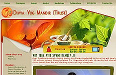 An informative website for Divya Yoga Mandir Trust that is managed by Baba Ramdev. The goal was to create a design that captured the essence of the Yog and Ayurvade....