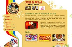 A template design for Rose N Wrap, an Art & Craft company. The brief was to create a unique styled design that captured the essence of the Art & craft....
