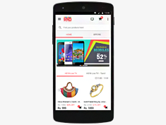 Material Design solution for HomeShop18 android app.