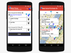 Android app to track and manage Last mile Delivery and Pickup.
